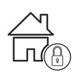 home page padlock security website online vector image