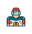 ice hockey player goalkeeper flat color vector image vector image