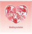 invitation for wedding vector image vector image