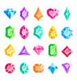 jewels gems jewelry diamond jewel heart crystal vector image
