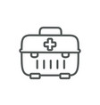 kit first aid medical protection safety line vector image