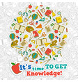 knowledge cartoon composition vector image vector image