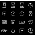 line time icon set vector image vector image