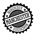 manchester black and white badge vector image