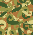Military texture shrimp plankton Army seamless vector image vector image