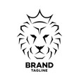 modern crowned lion logo vector image vector image