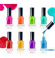 nail polish assortment vector image vector image