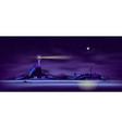 northern seashore night landscape cartoon vector image