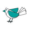 Paper bird origami vector image
