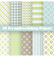 Pattern papers for scrapbook vector image vector image