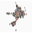people map country Sark vector image vector image