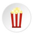 popcorn icon circle vector image vector image