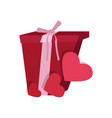present with heart shapes vector image