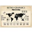 retro vintage set infographic elements vector image