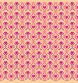 seamless pattern love pink background vector image vector image