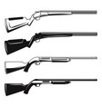 set hunting guns and rifles design element vector image