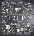 Set of labels for the Easter holiday vector image vector image
