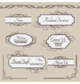 Set of vintage labels frames borders vector image vector image