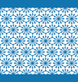 snowflake tile pattern winter holiday ornament vector image vector image