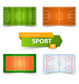 soccer football basketball volleyball hockey vector image vector image