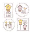 spring labels cartoon vector image