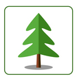 Spruce fir tree icon vector image vector image