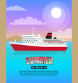 summer cruise poster depicting large liner vector image
