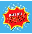 Super sale a banner in style of comics popart vector image vector image