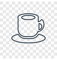 tea cup concept linear icon isolated on vector image