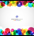 template abstract header colorful circles with vector image vector image