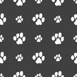 trace dogs icon sign Seamless pattern on a gray vector image vector image