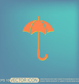 umbrella icon protection from rain and moisture vector image