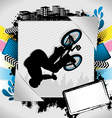 bmx biker summer background vector image