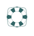 simple lifebuoy icon or life preserver vector image