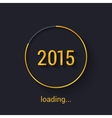 2015 Gold progress loading bad vector image