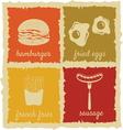 Set of Vintage Food Labels vector image