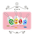 Sale Labels - Tags on Pink Background in Retro vector image