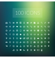 Set of 100 simple universal modern thin line icons vector image