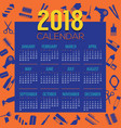 2018 hair dressing stuff icon printable calendar vector image vector image