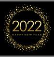 2022 on black label with gold glitter confetti vector image
