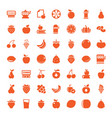 49 fruit icons vector image vector image