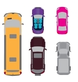 A set of five cars Coupe convertible SUV vector image vector image