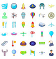 airplane icons set cartoon style vector image vector image