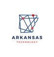 arkansas technology tech geometric polygonal map vector image vector image