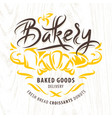 bakery calligraphic label vector image