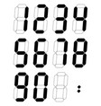 black digital numbers 0-9 numbers vector image