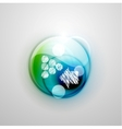 Blue and green futuristic circle and hand drawn vector image vector image