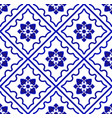blue and white pattern flower vector image vector image