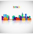 brno skyline silhouette in colorful geometric vector image vector image