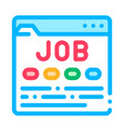 business web site resource job hunting icon vector image